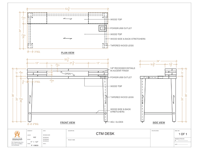 Desk CAD Drawing