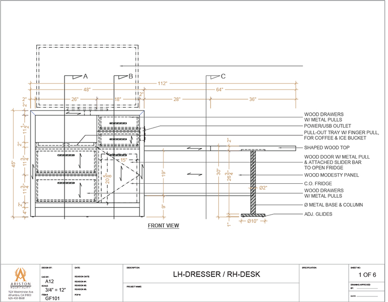 Dresser CAD Drawing