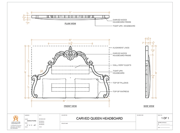 Headboard CAD Drawing